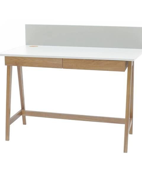 Ragaba Biely písací stôl s podnožím z jaseňového dreva Ragaba Luka, dĺžka 110 cm