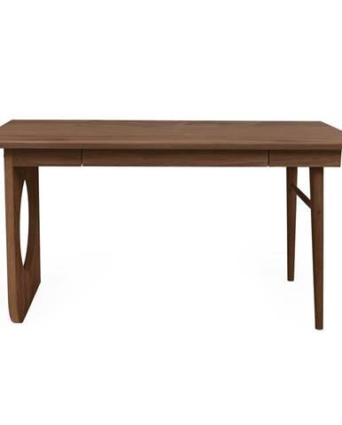 Hnedý písací stôl Woodman Bau