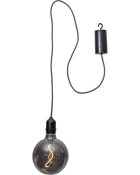 Best Season Čierna vonkajšia svetelná LED dekorácia Best Season Glassball, dĺžka 1 m