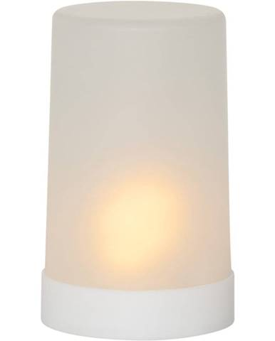 Biela LED vonkajšia svetelná dekorácia Best Season Candle Flame, výška 14,5 cm