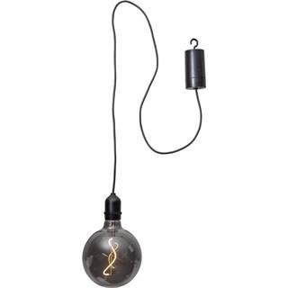 Čierna vonkajšia svetelná LED dekorácia Best Season Glassball, dĺžka 1 m