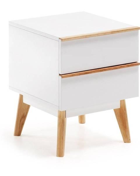 La Forma Biely nočný stolík La Forma Meety, 42,5×40cm