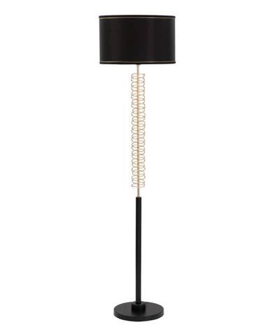 Čierna voľne stojacia lampa Mauro Ferretti Twist