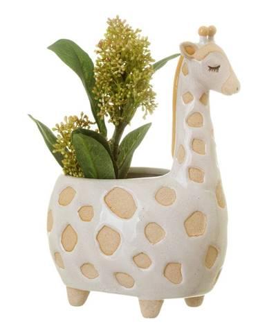 Bielo-béžový kvetináč Sass & Belle Gina Giraffe, ø 7,5 cm