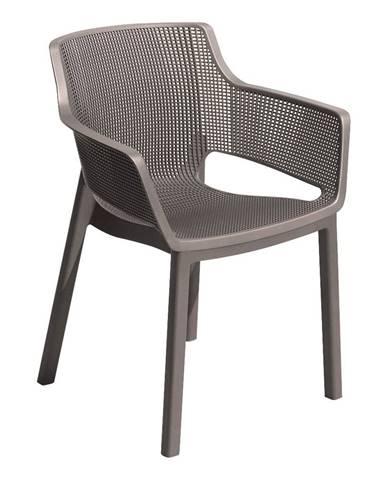 Hnedá záhradná stolička Keter Elisa