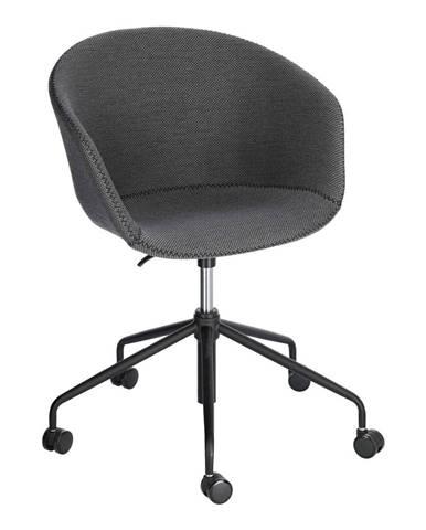 Sivá kancelárska stolička La Forma Zadine