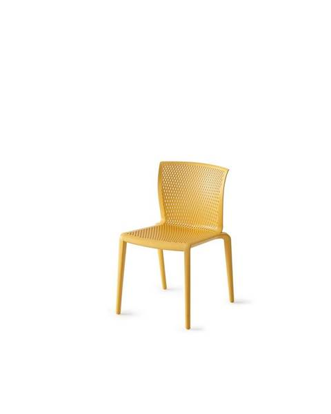 Möbelix Plastová stolička spiker Horčicová