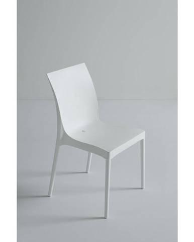 Plastová stolička Eset Biela