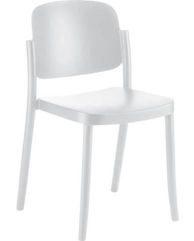 Plastová stolička Plaza Biela
