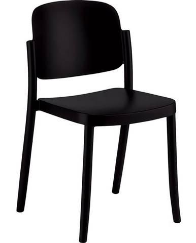 Plastová stolička Plaza Čierna