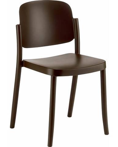 Plastová stolička Plaza Hnedá