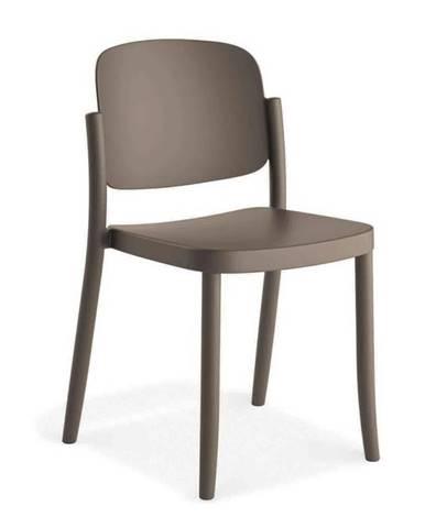 Plastová stolička Plaza sivá