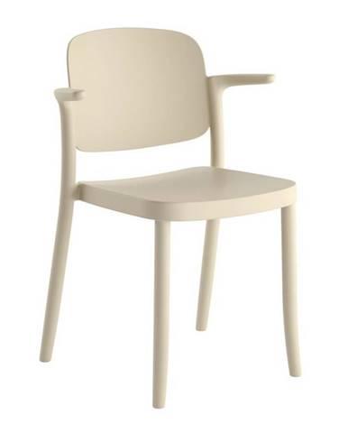 Plastová stolička s podrúčkami Plaza Piesková