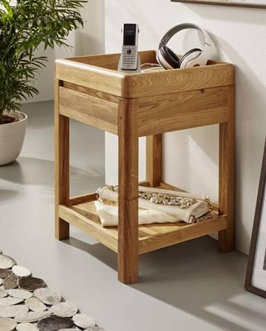 BRISBANE Príručný stolík 40x60 cm, dub