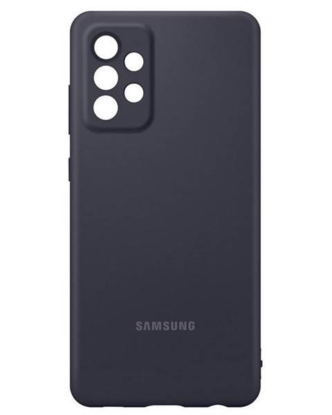Samsung Kryt na mobil Samsung Silicon Cover na Galaxy A72 čierny