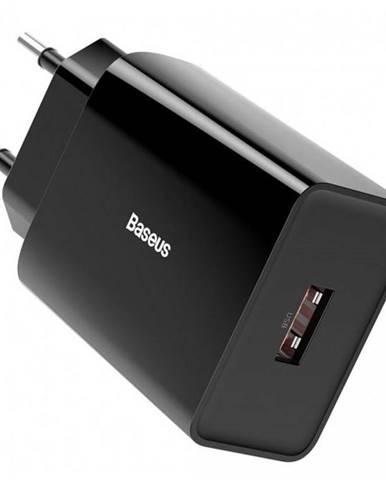 Nabíjačka do siete Baseus 1x USB, 18W čierna