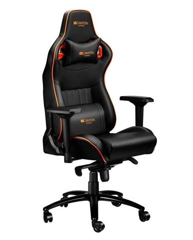 Herná stolička Canyon Corax čierna/oranžová