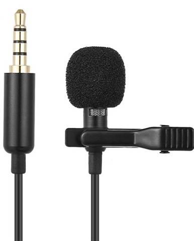 Mikrofón Platinet Lavalier Lapel Metal Clip čierny
