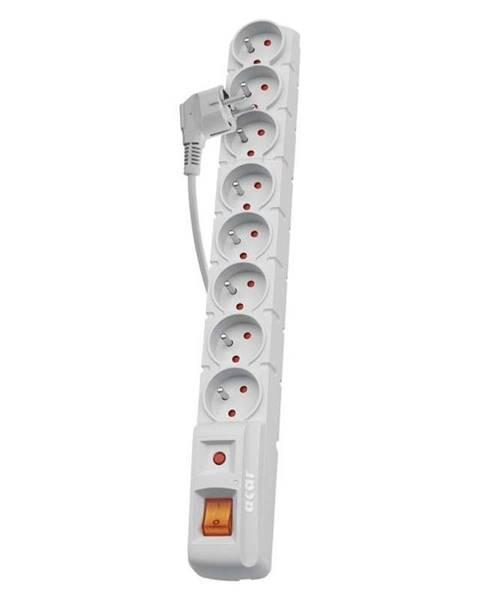 EMOS Prepäťová ochrana Emos P53898, 1,5 m, 8 zásuvek sivá