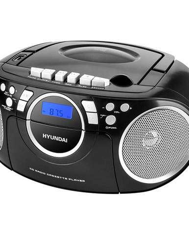 Rádiomagnetofón s CD Hyundai TRC 788 Au3bs čierny/strieborn