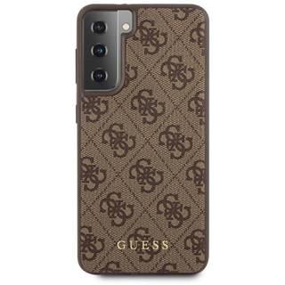 Kryt na mobil Guess 4G na Samsung Galaxy S21+ 5G hnedý