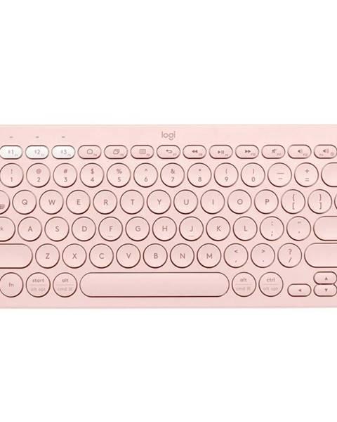 Logitech Klávesnica Logitech Bluetooth Keyboard K380, US ružová