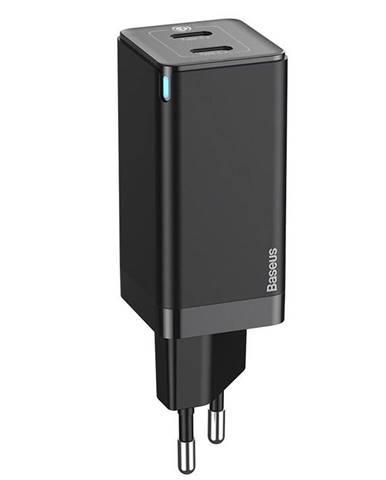 Nabíjačka do siete Baseus GaN2 Quick Charge 45W, 2x USB-C, QC 3.0 +