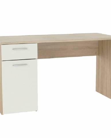 Písací stôl dub sonoma/biely EGON