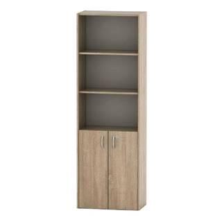 Kancelárska skrinka so zámkom dub sonoma TEMPO ASISTENT NEW 002