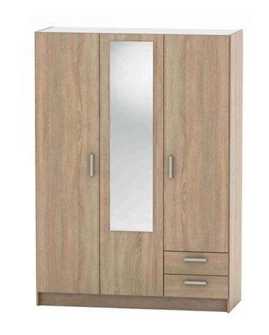 3-dverová skriňa dub sonoma BETTY 7 BE07-001-00