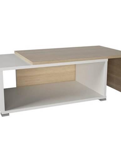 Konferenčný stolík rozkladací dub sonoma/biela DRON
