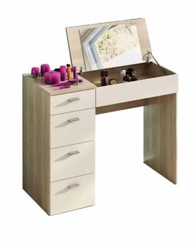 Toaletný stolík toaletka dub sonoma/biela BELINA
