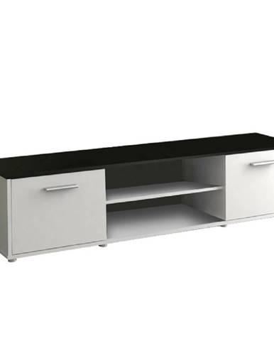 TV stolík biela/čierna ZUNO NEW 01