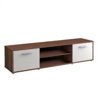 TV stolík slivka/biela ZUNO NEW 01