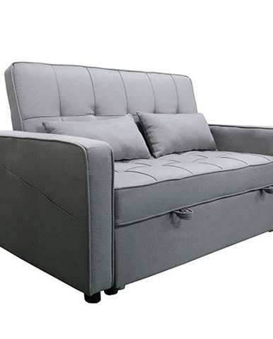 Rozkladacia pohovka sivá FRENKA BIG BED NEW