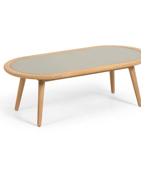 La Forma Záhradný stolík z eukalyptového dreva s betónovou doskou La Forma Glynis Nina
