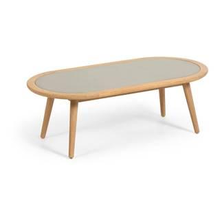 Záhradný stolík z eukalyptového dreva s betónovou doskou La Forma Glynis Nina