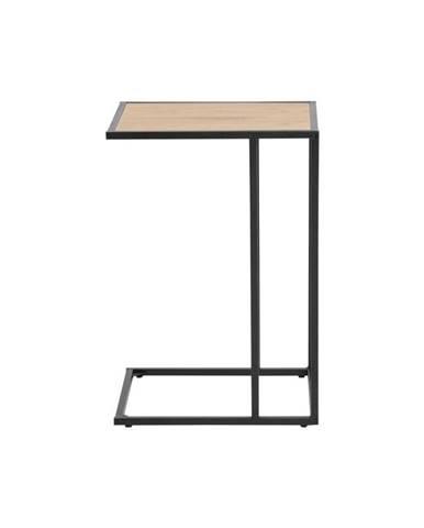 Čierno-hnedý stôl na laptop Actona Seaford