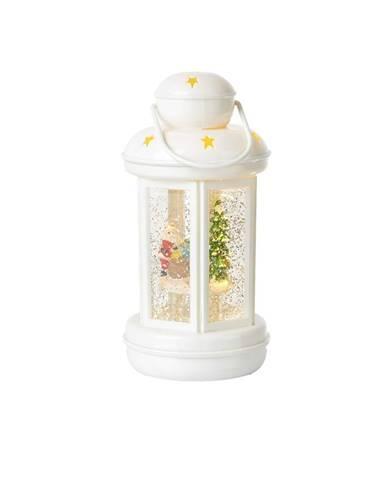 Biely LED lampáš Markslöjd Cosy, výška 20 cm