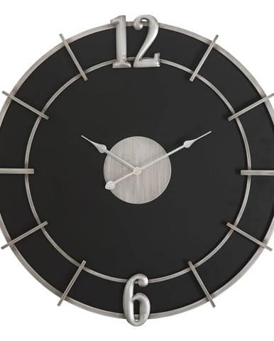Čierne nástenné hodiny Mauro Ferretti Glam, ø 60 cm