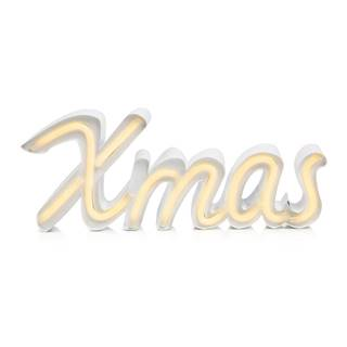 Biela svetelná LED dekorácia Markslöjd Xmas, dĺžka 40 cm
