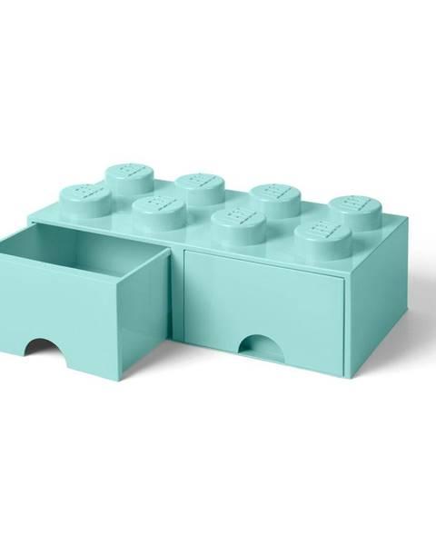 LEGO® Mentolovozelený úložný box s dvoma zásuvkami LEGO®