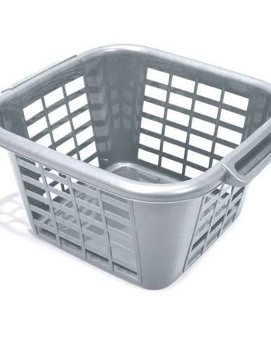 Sivý kôš na bielizeň Addis Square Laundry Basket, 24 l