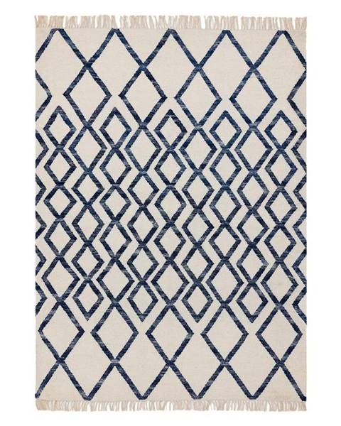 Asiatic Carpets Béžovo-modrý koberec Asiatic Carpets Hackney Diamond, 160 x 230 cm