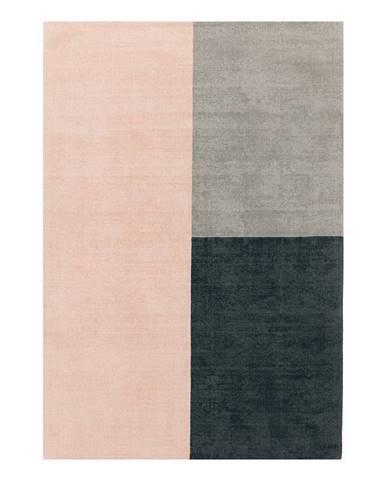 Ružovo-sivý koberec Asiatic Carpets Blox, 160 x 230 cm