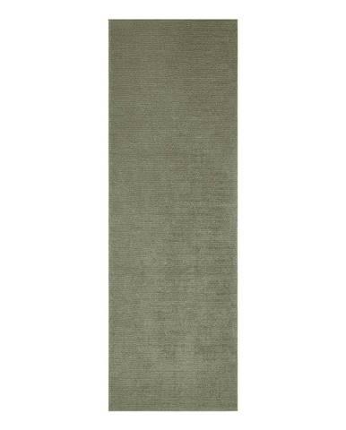 Tmavozelený behúň Mint Rugs Supersoft, 80 x 250 cm
