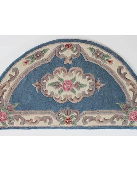Flair Rugs Modrý koberec z vlny Flair Rugs Aubusson, 67×127 cm