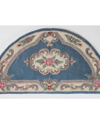 Modrý koberec z vlny Flair Rugs Aubusson, 67×127 cm
