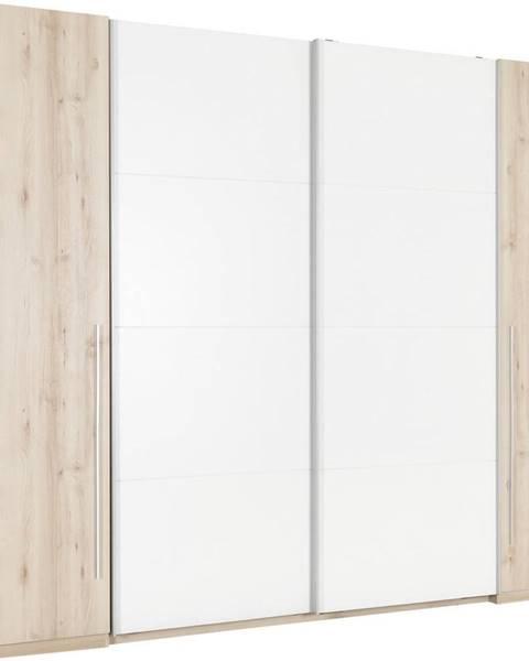 Ti`me Ti`me ŠATNÍKOVÁ SKRIŇA, biela, farby buku, 270/225/61 cm - biela, farby buku