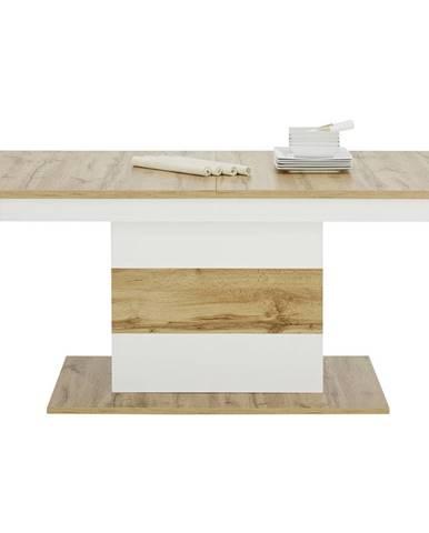 Mömax modern living VÝSUVNÝ STÔL, biela, farby dubu, 160/75/90 cm - biela, farby dubu